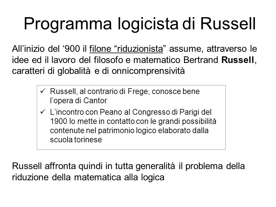 Programma logicista di Russell