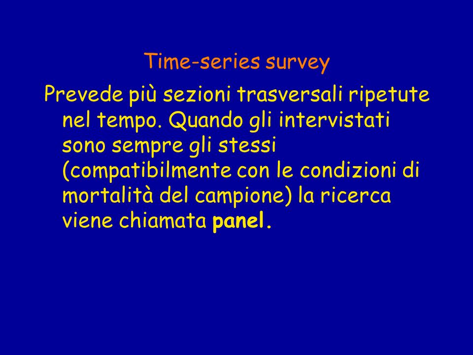 Time-series survey