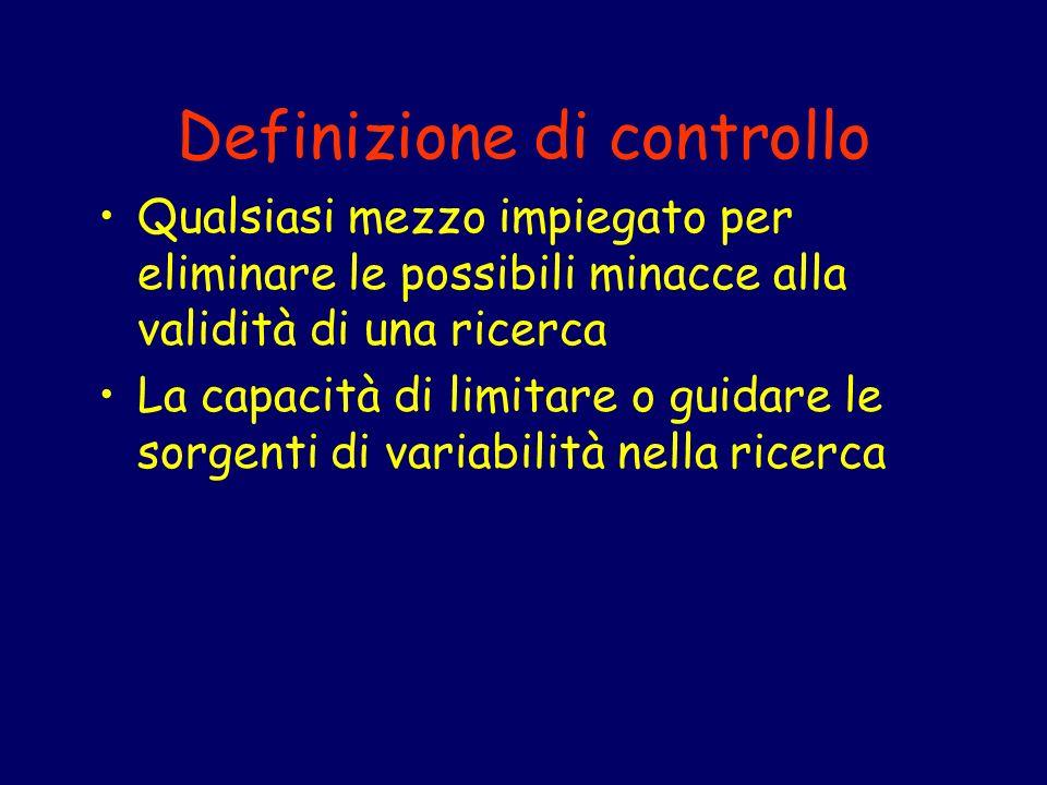 Definizione di controllo