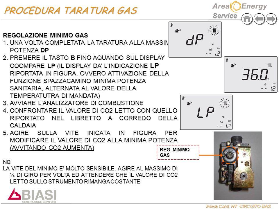 PROCEDURA TARATURA GAS