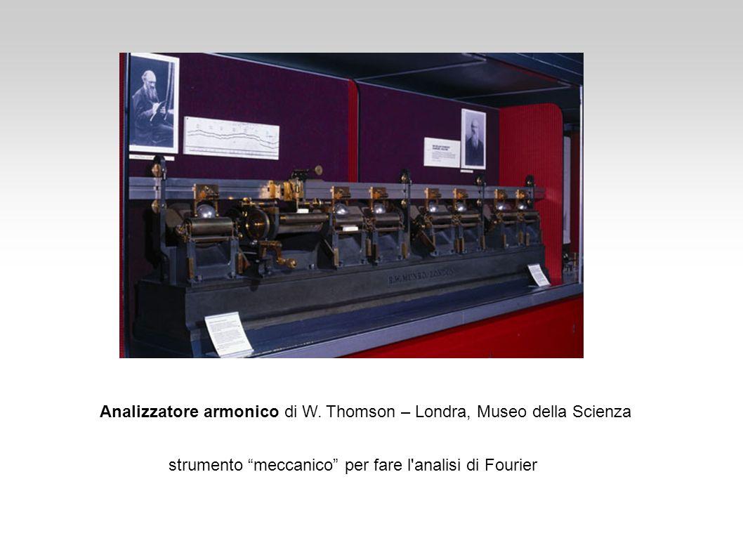 Analizzatore armonico di W. Thomson – Londra, Museo della Scienza