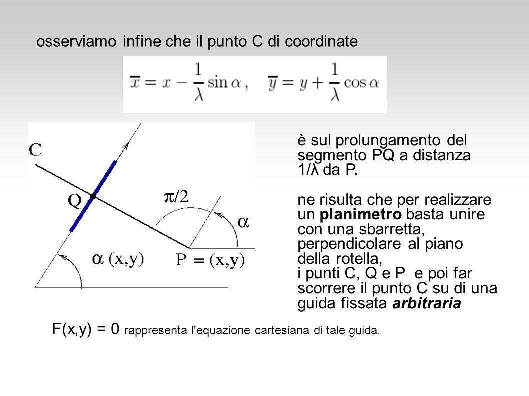 osserviamo infine che il punto C di coordinate
