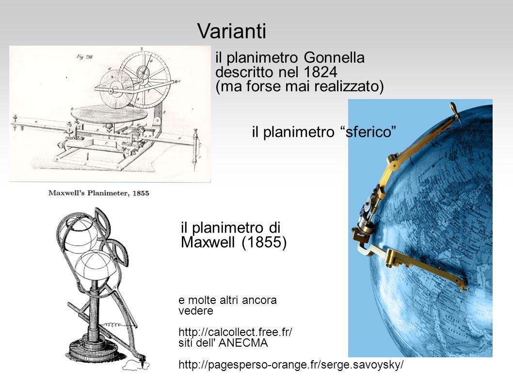 Varianti il planimetro Gonnella descritto nel 1824