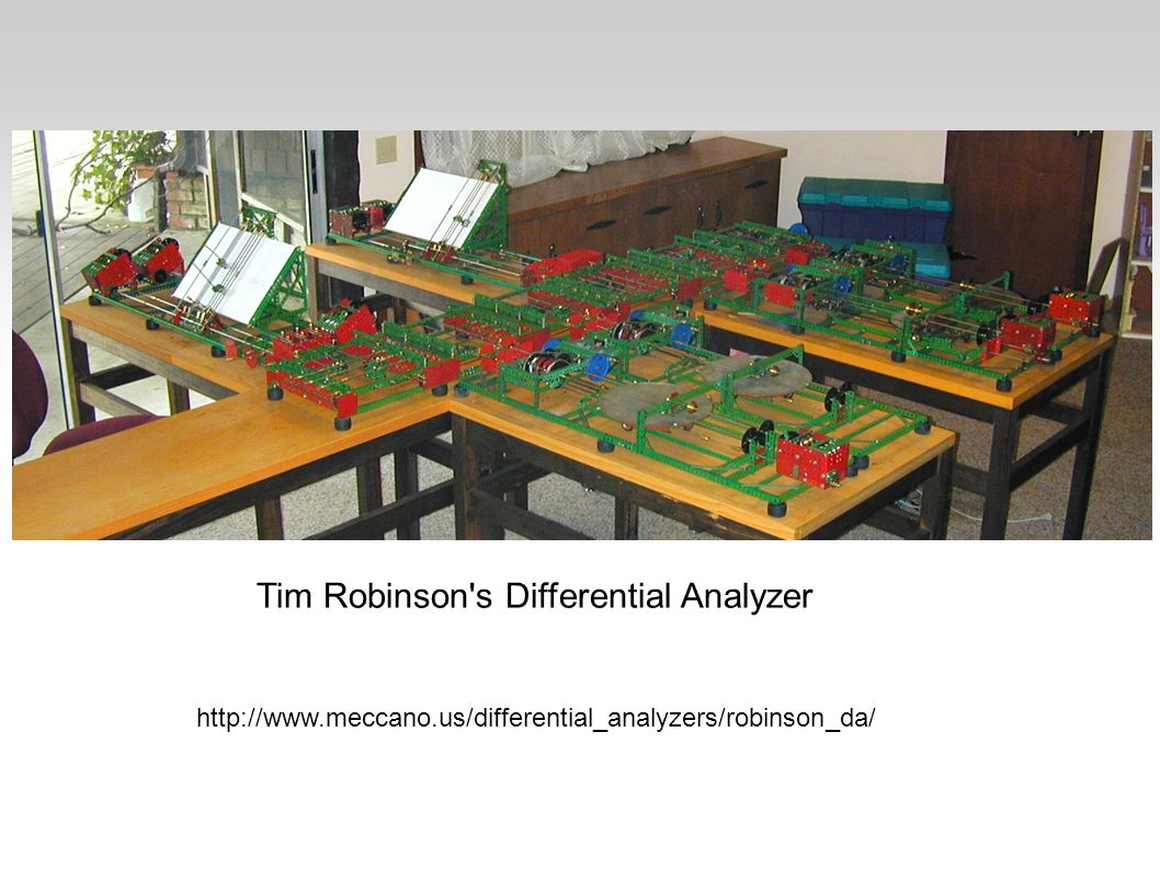 Tim Robinson s Differential Analyzer