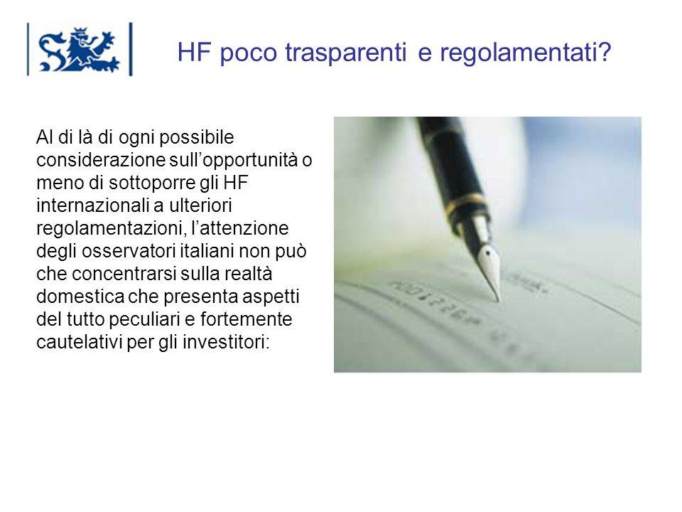 HF poco trasparenti e regolamentati