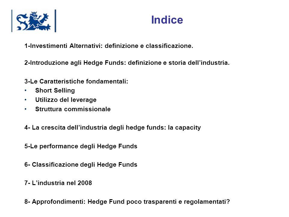 Indice 1-Investimenti Alternativi: definizione e classificazione.