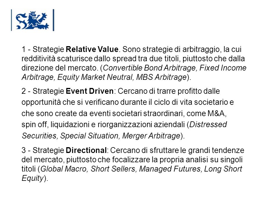 1 - Strategie Relative Value
