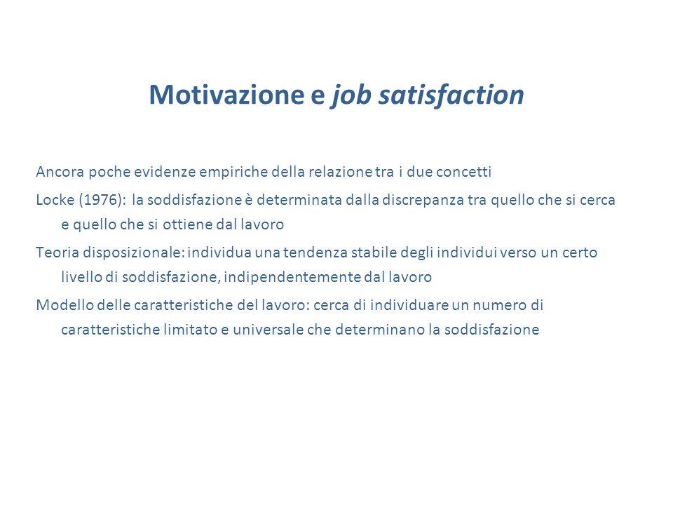 Motivazione e job satisfaction