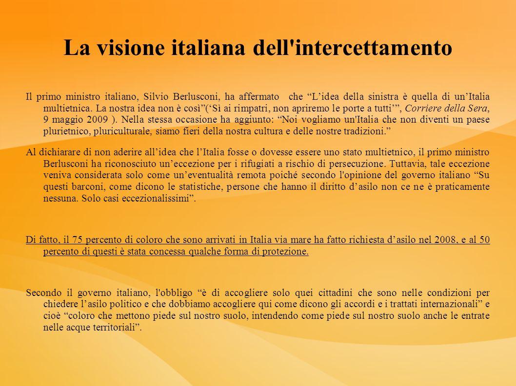 La visione italiana dell intercettamento