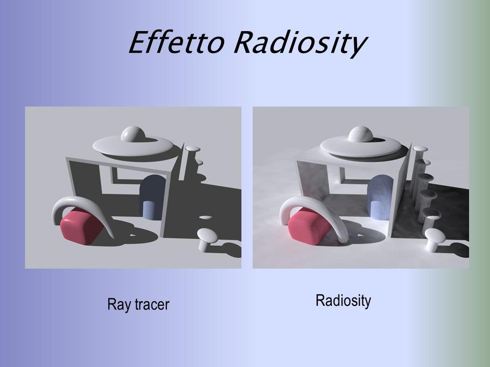 Effetto Radiosity Radiosity Ray tracer
