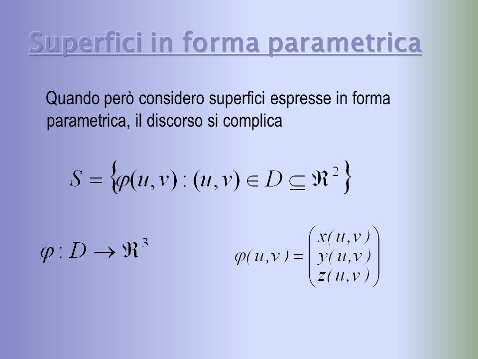 Superfici in forma parametrica