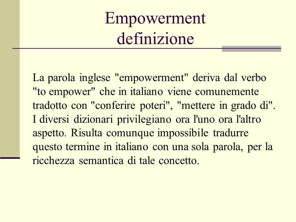 Empowerment definizione