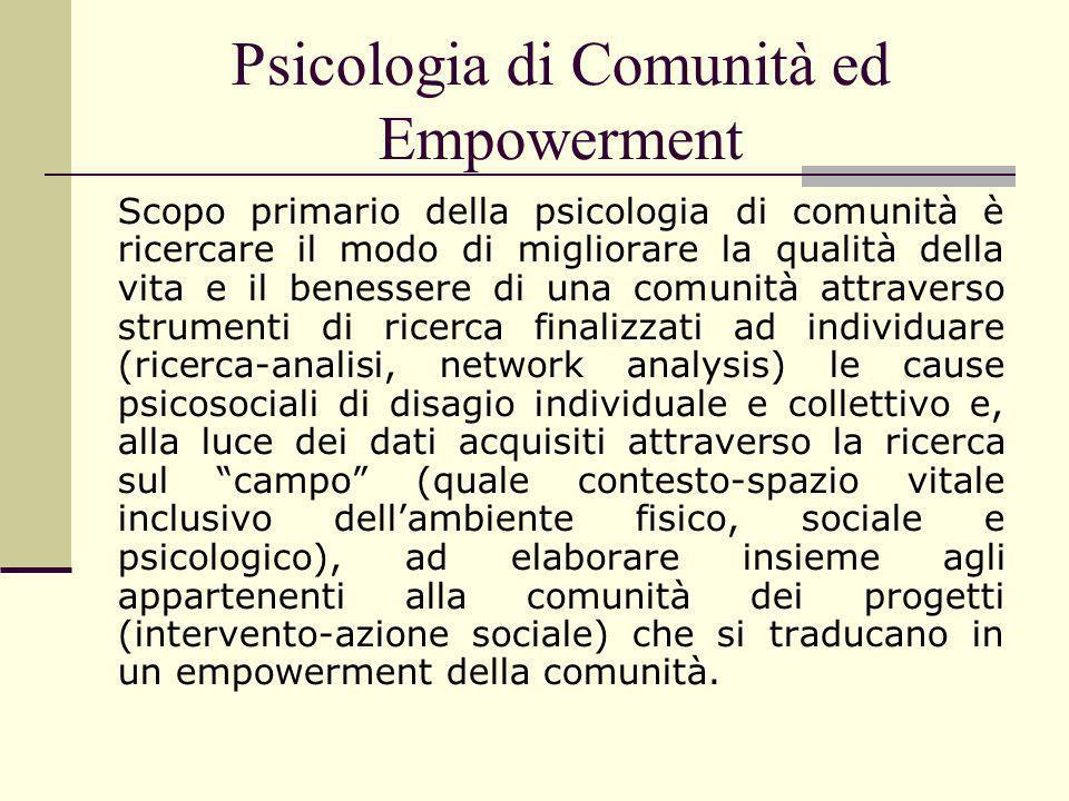 Psicologia di Comunità ed Empowerment
