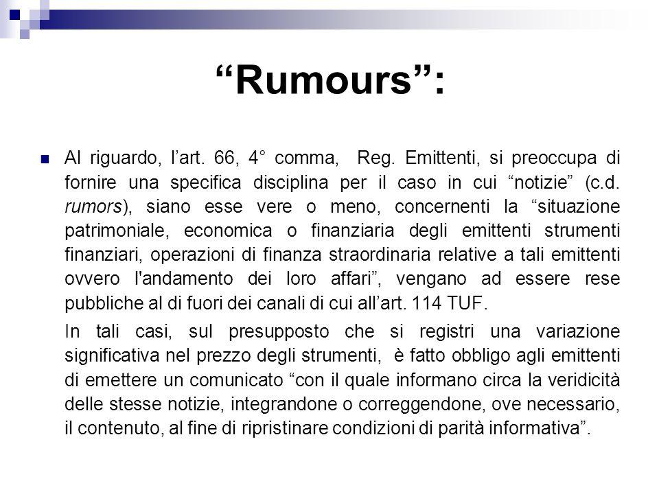 Rumours :