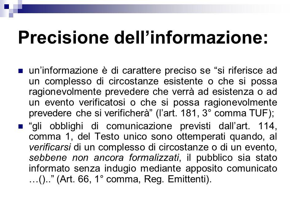 Precisione dell'informazione: