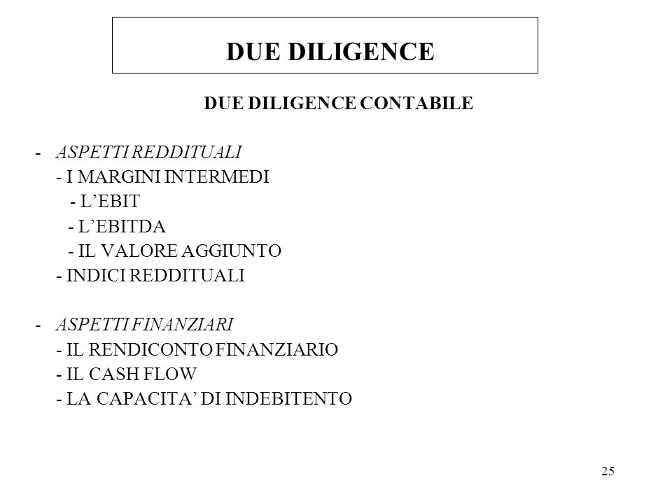 DUE DILIGENCE CONTABILE
