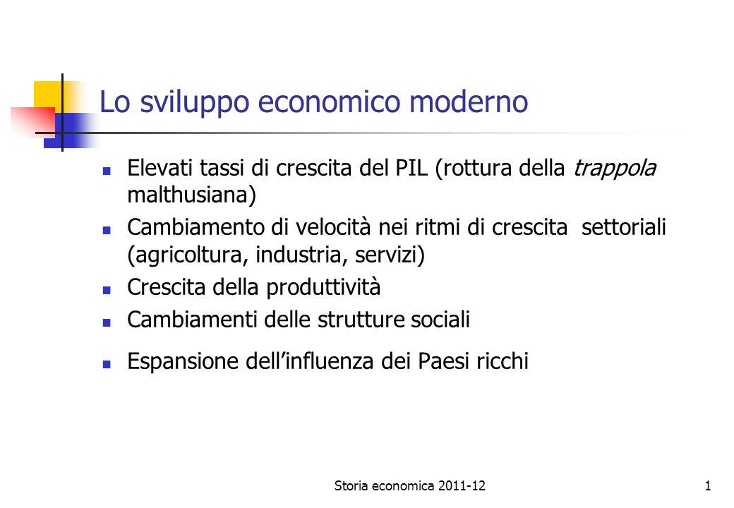 Lo sviluppo economico moderno
