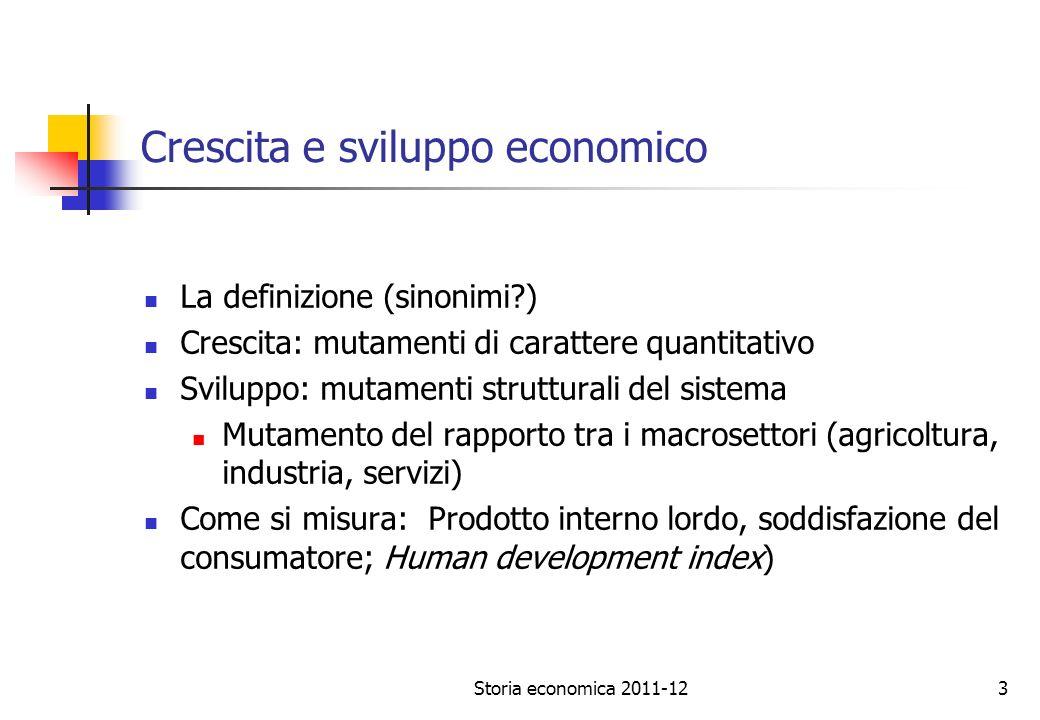 Crescita e sviluppo economico