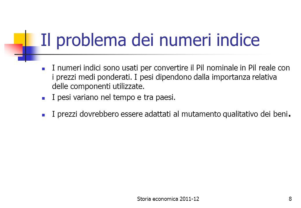 Il problema dei numeri indice