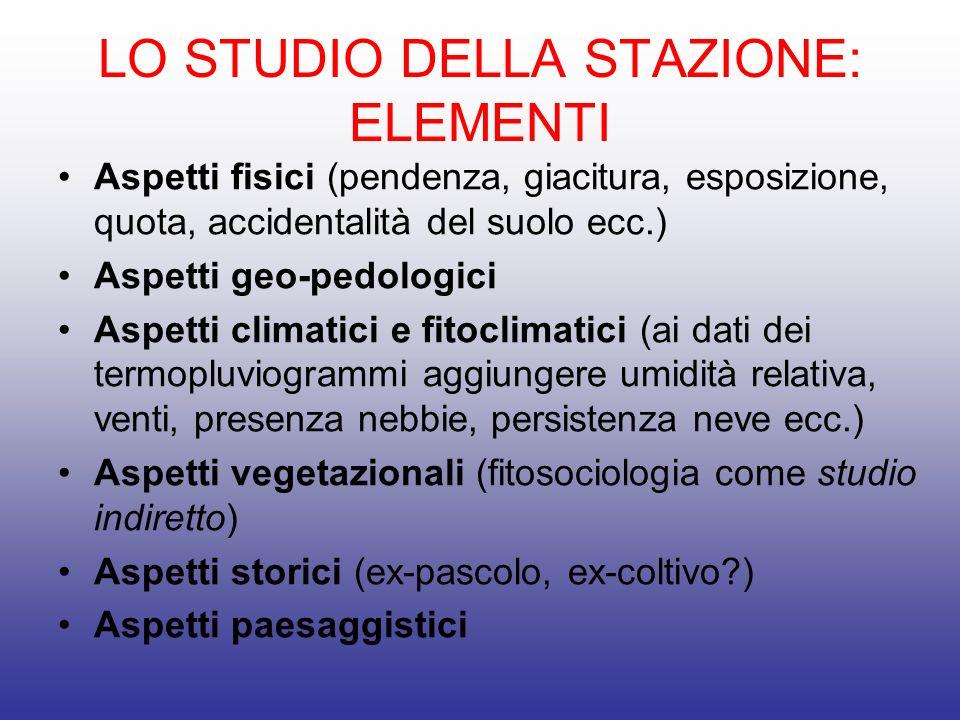 LO STUDIO DELLA STAZIONE: ELEMENTI