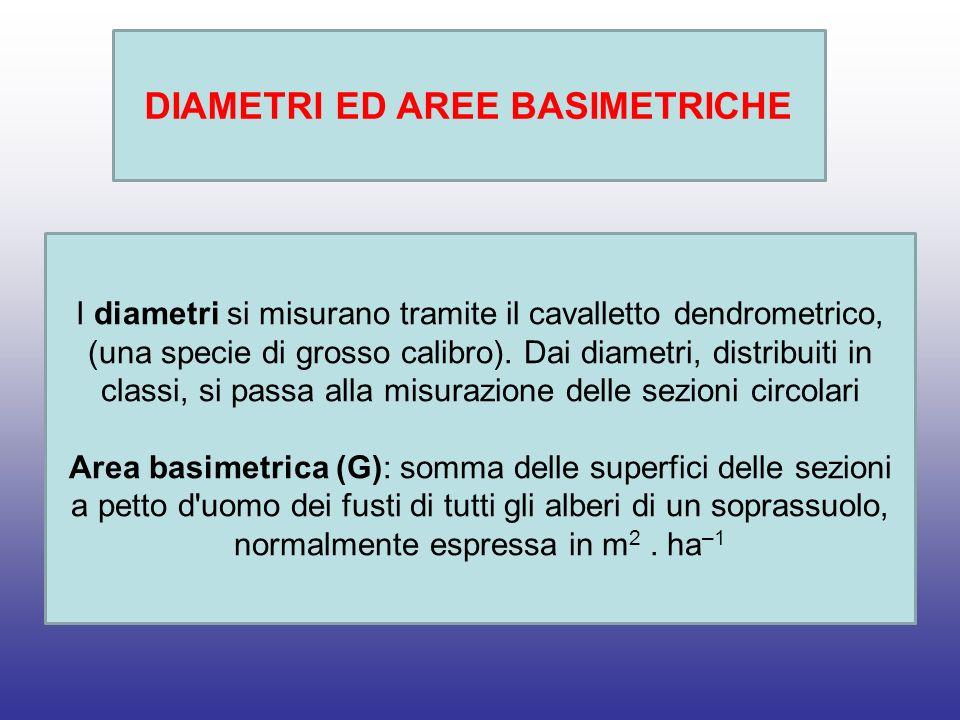 DIAMETRI ED AREE BASIMETRICHE