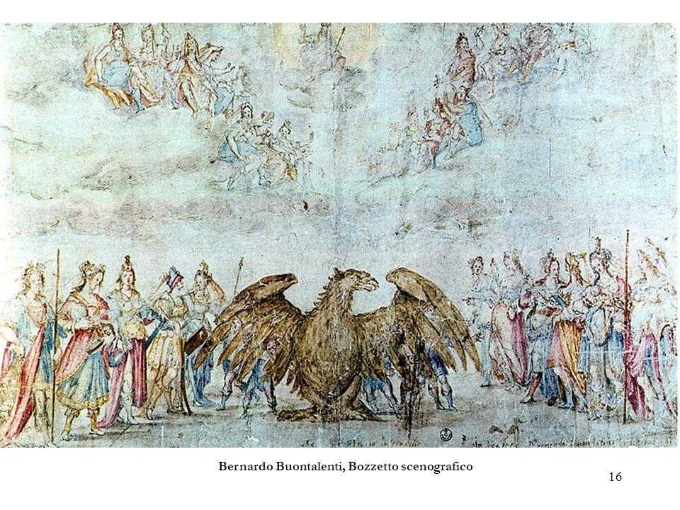 Bernardo Buontalenti, Bozzetto scenografico