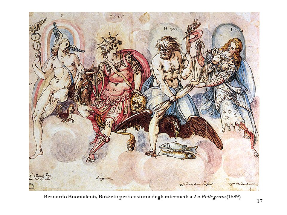 Bernardo Buontalenti, Bozzetti per i costumi degli intermedi a La Pellegrina (1589)