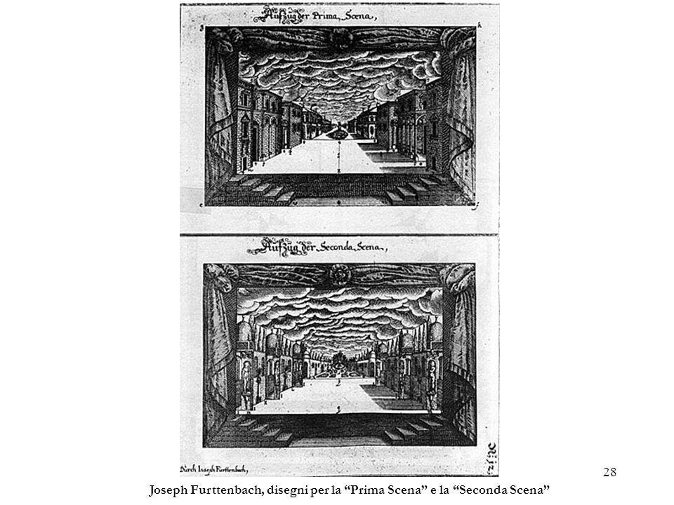 Joseph Furttenbach, disegni per la Prima Scena e la Seconda Scena