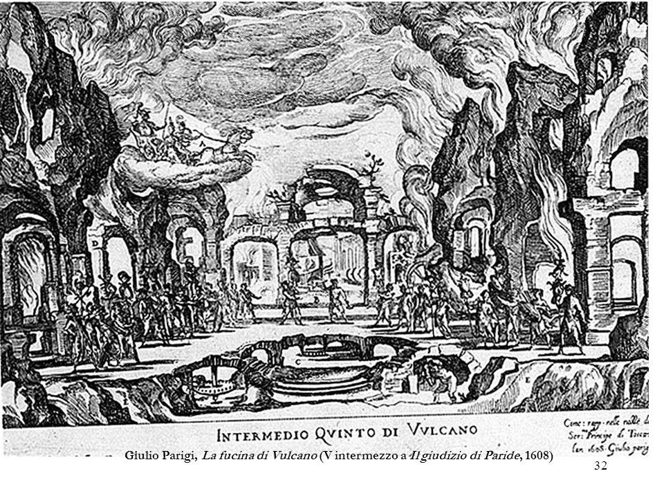 Giulio Parigi, La fucina di Vulcano (V intermezzo a Il giudizio di Paride, 1608)