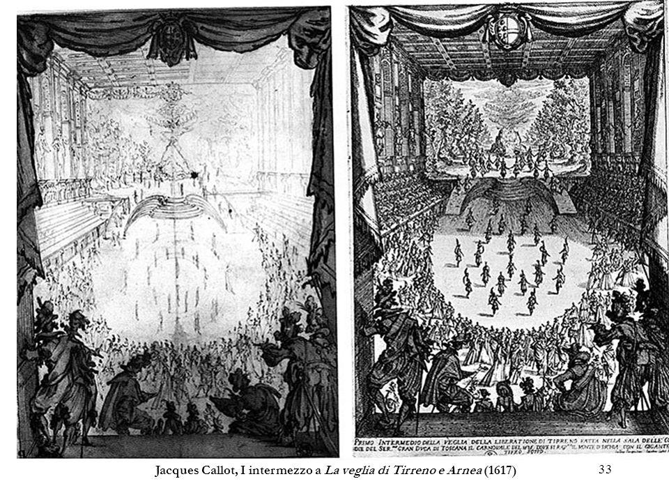 Jacques Callot, I intermezzo a La veglia di Tirreno e Arnea (1617)