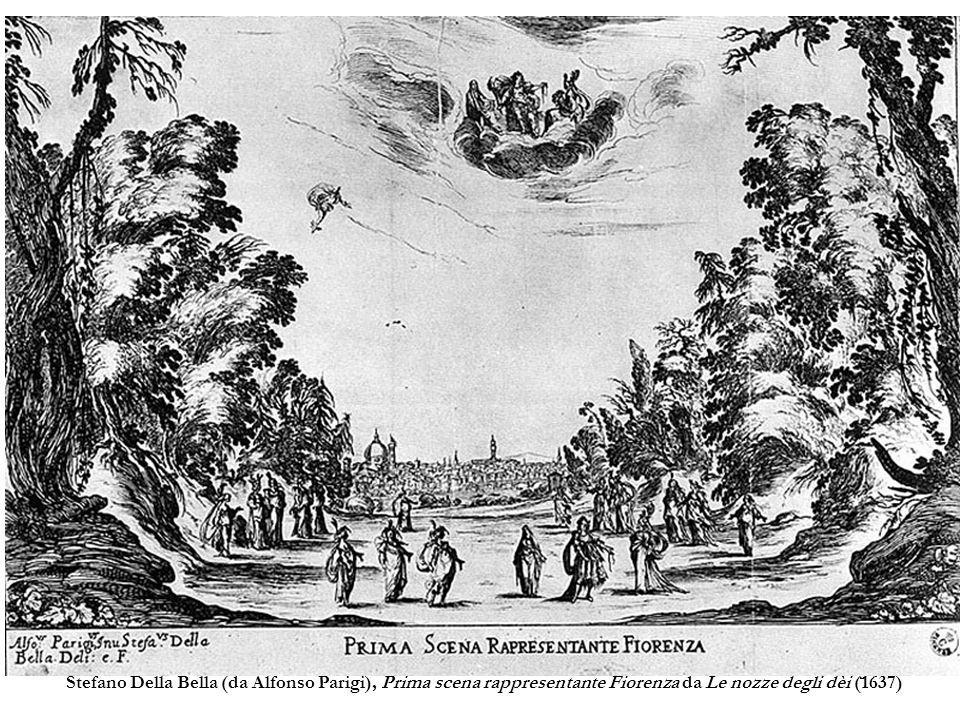 Stefano Della Bella (da Alfonso Parigi), Prima scena rappresentante Fiorenza da Le nozze degli dèi (1637)