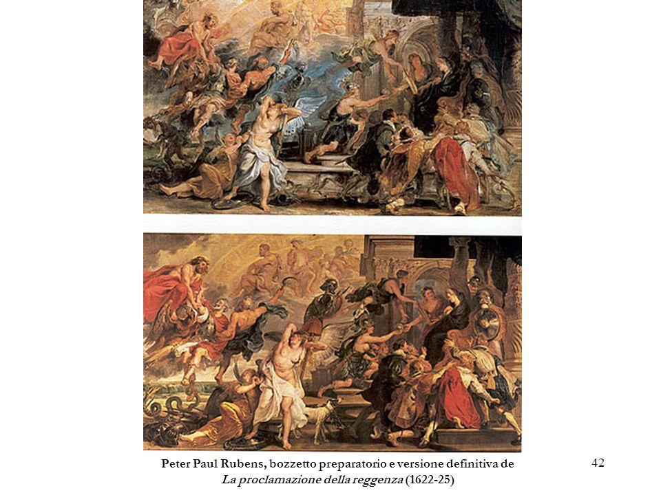 Peter Paul Rubens, bozzetto preparatorio e versione definitiva de