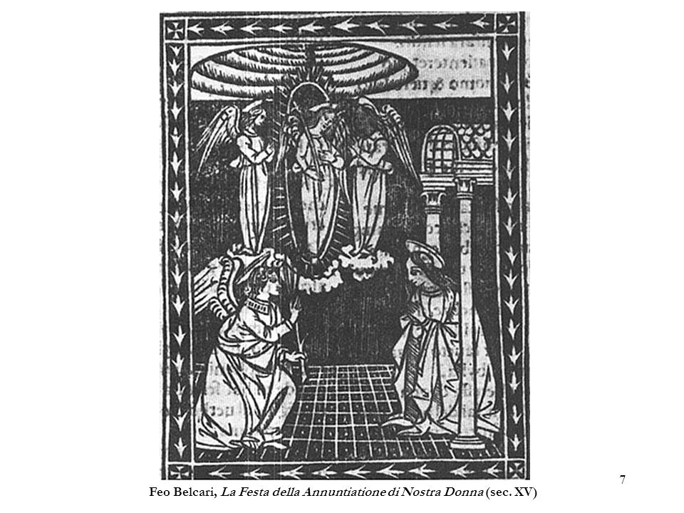 Feo Belcari, La Festa della Annuntiatione di Nostra Donna (sec. XV)