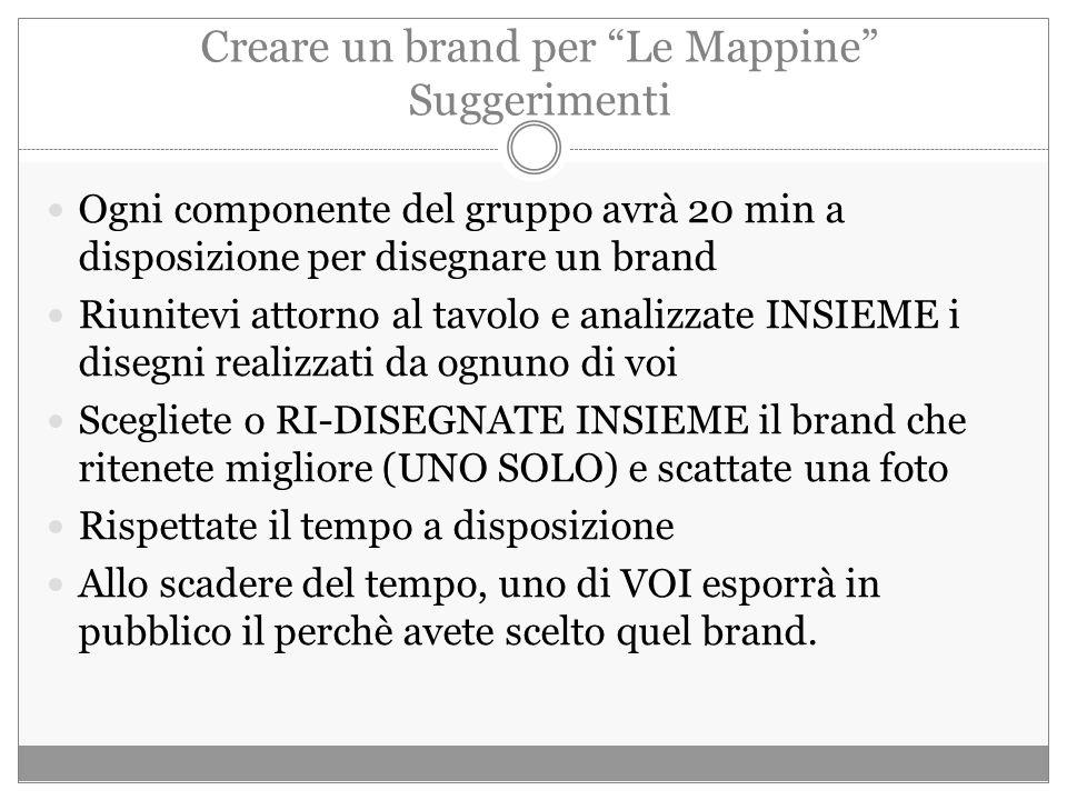 Creare un brand per Le Mappine Suggerimenti