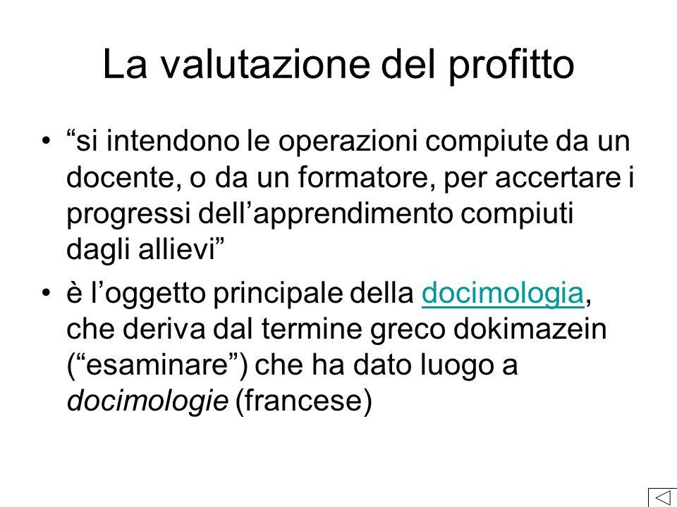 La valutazione del profitto