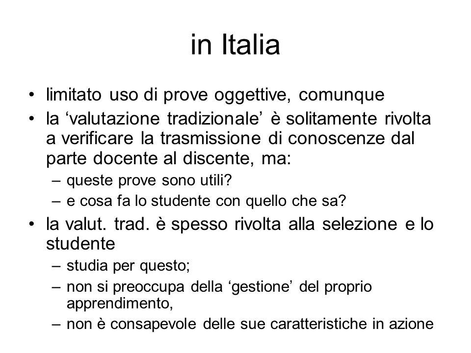 in Italia limitato uso di prove oggettive, comunque