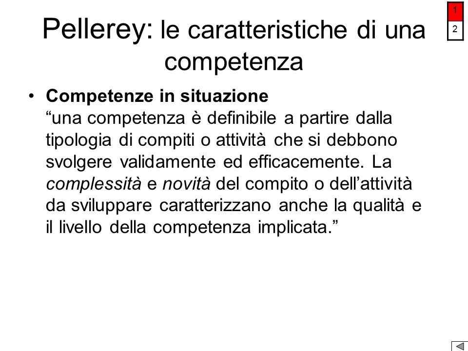 Pellerey: le caratteristiche di una competenza