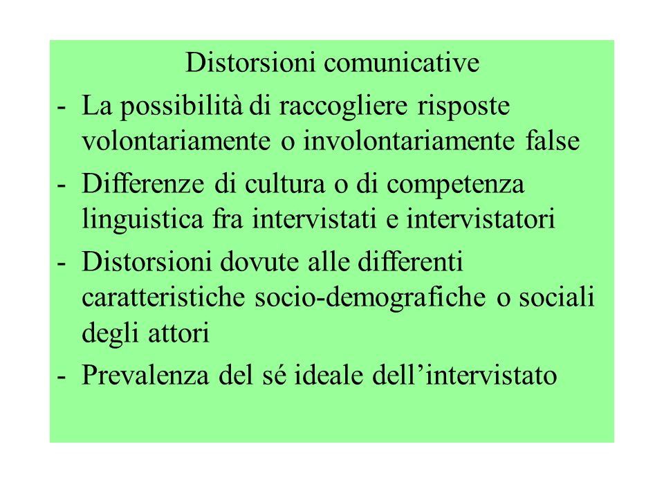 Distorsioni comunicative