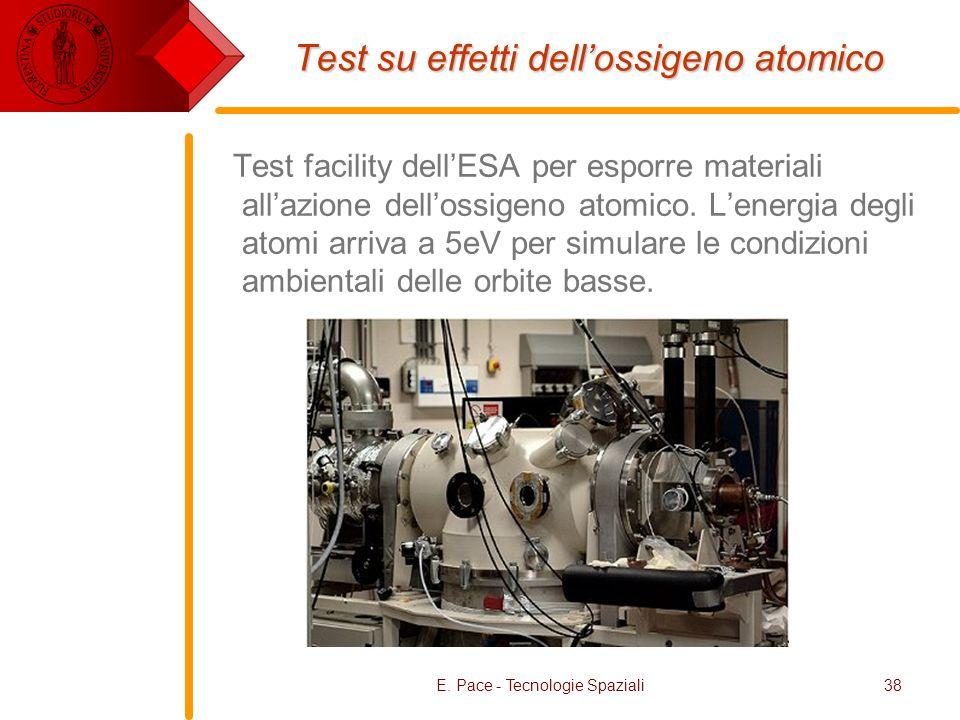 Test su effetti dell'ossigeno atomico