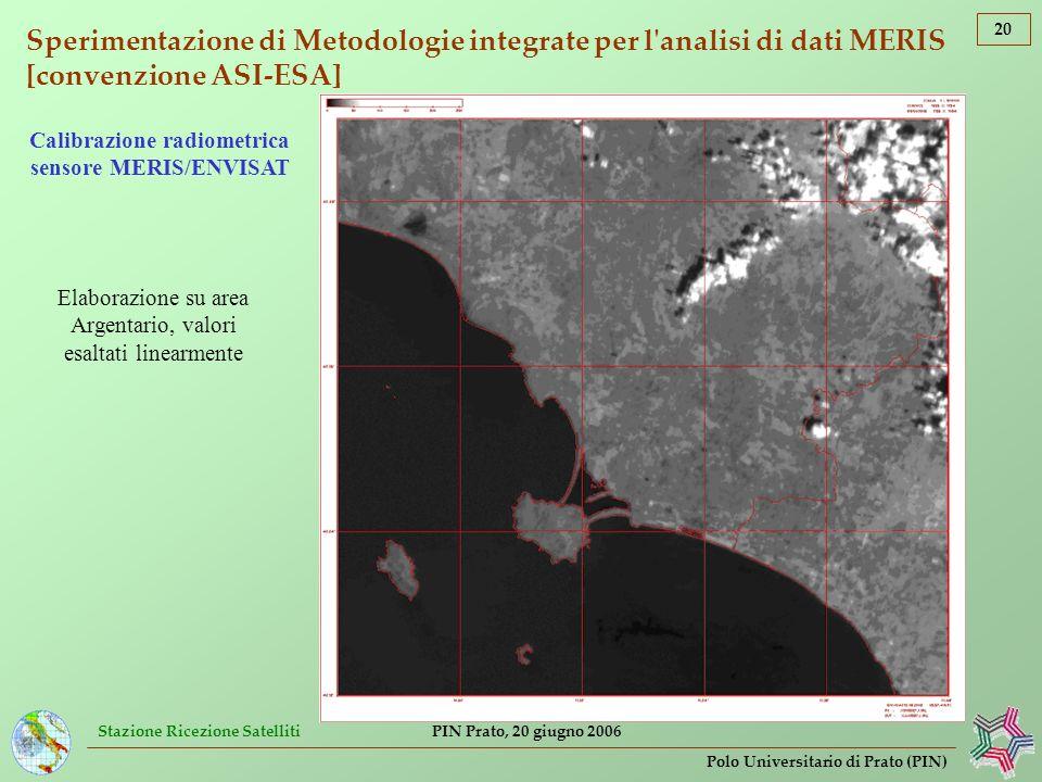 Calibrazione radiometrica sensore MERIS/ENVISAT