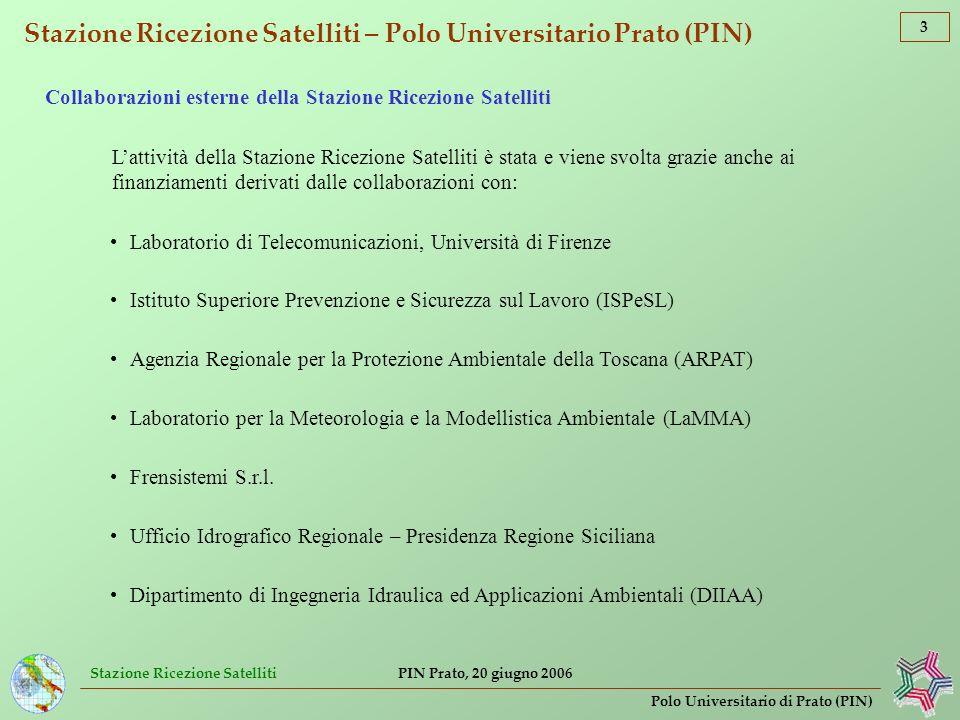 Stazione Ricezione Satelliti – Polo Universitario Prato (PIN)