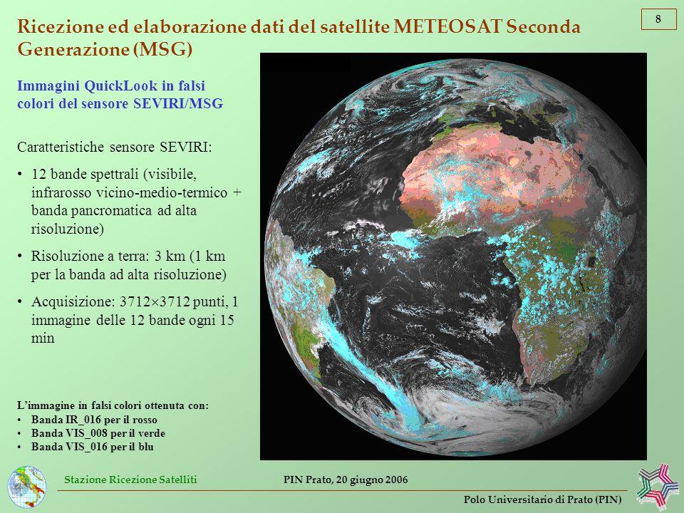 Ricezione ed elaborazione dati del satellite METEOSAT Seconda Generazione (MSG)