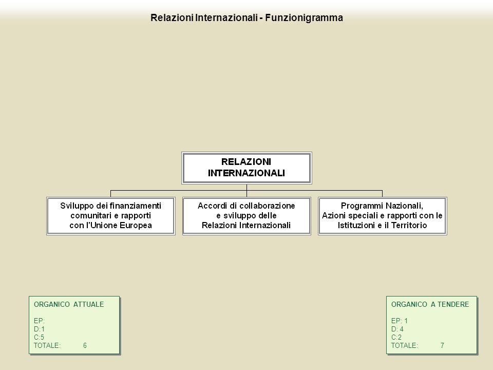 Relazioni Internazionali - Funzionigramma