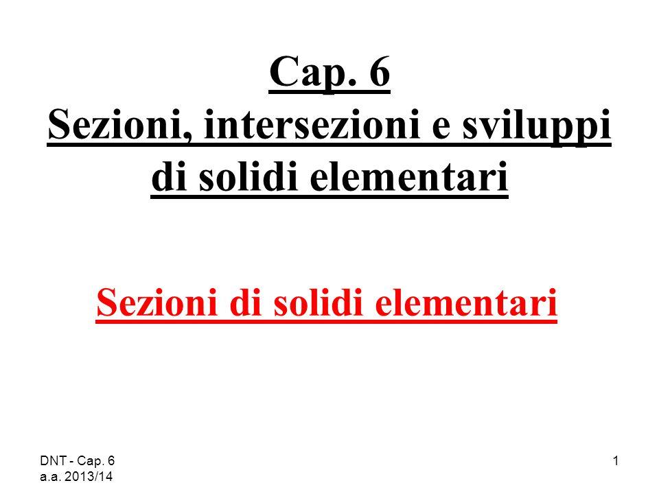 Cap. 6 Sezioni, intersezioni e sviluppi di solidi elementari