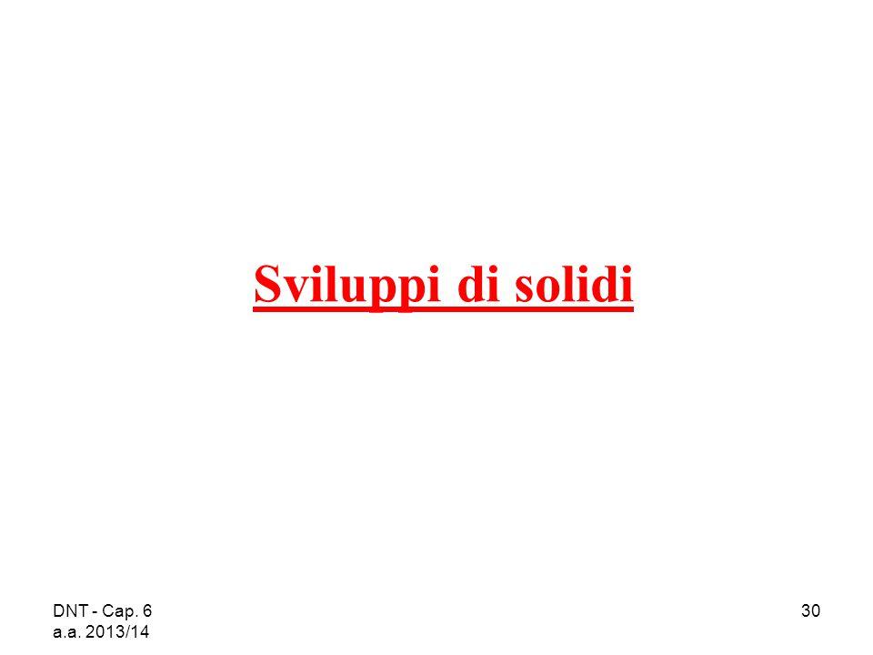 Sviluppi di solidi DNT - Cap. 6 a.a. 2013/14