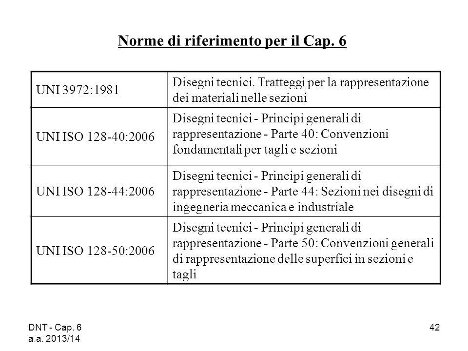 Norme di riferimento per il Cap. 6
