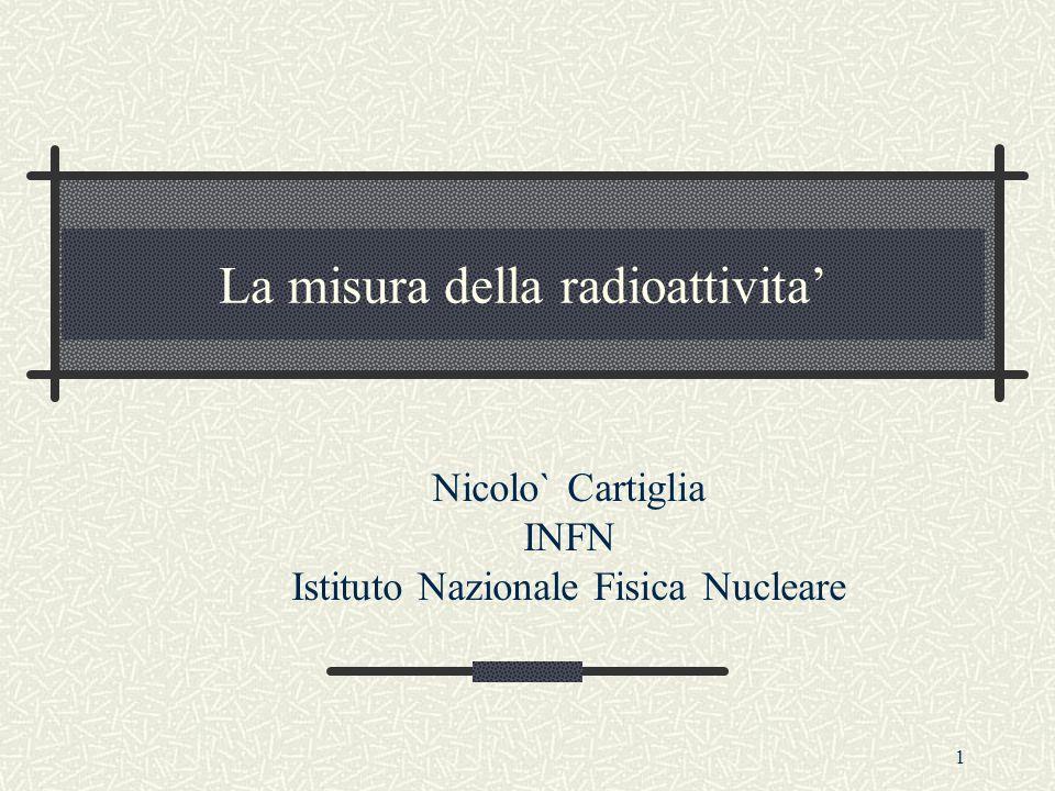 La misura della radioattivita'