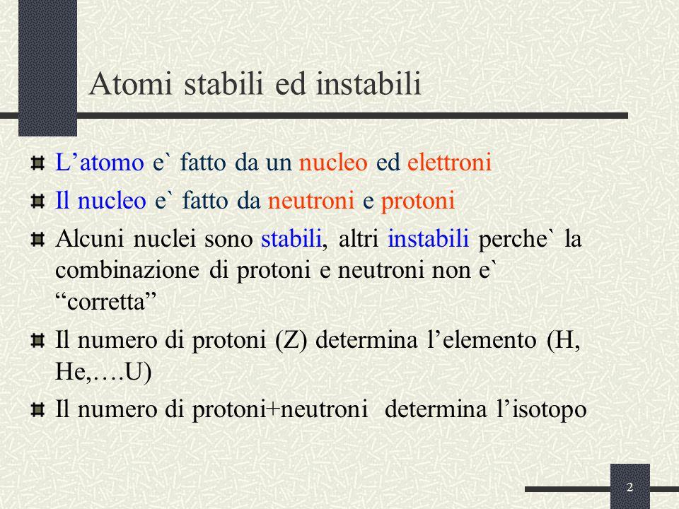 Atomi stabili ed instabili