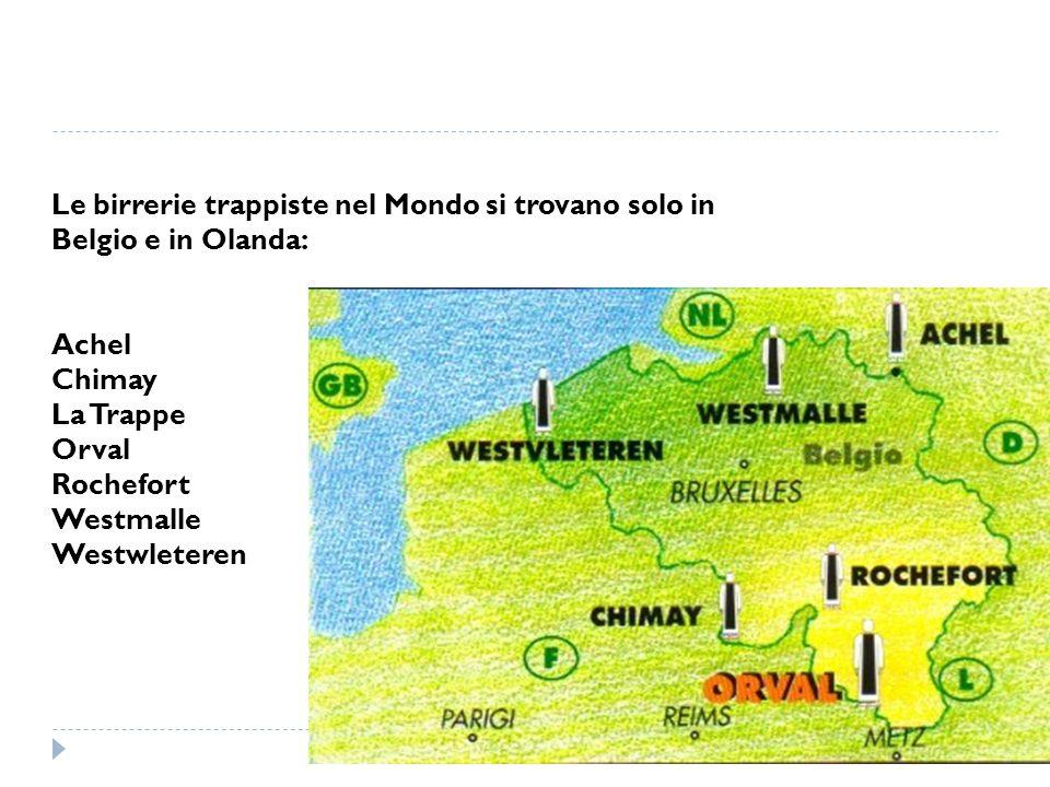 Le birrerie trappiste nel Mondo si trovano solo in Belgio e in Olanda: