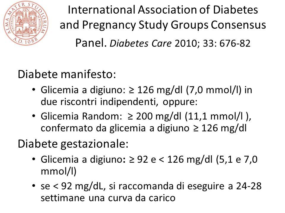 Diabete gestazionale: